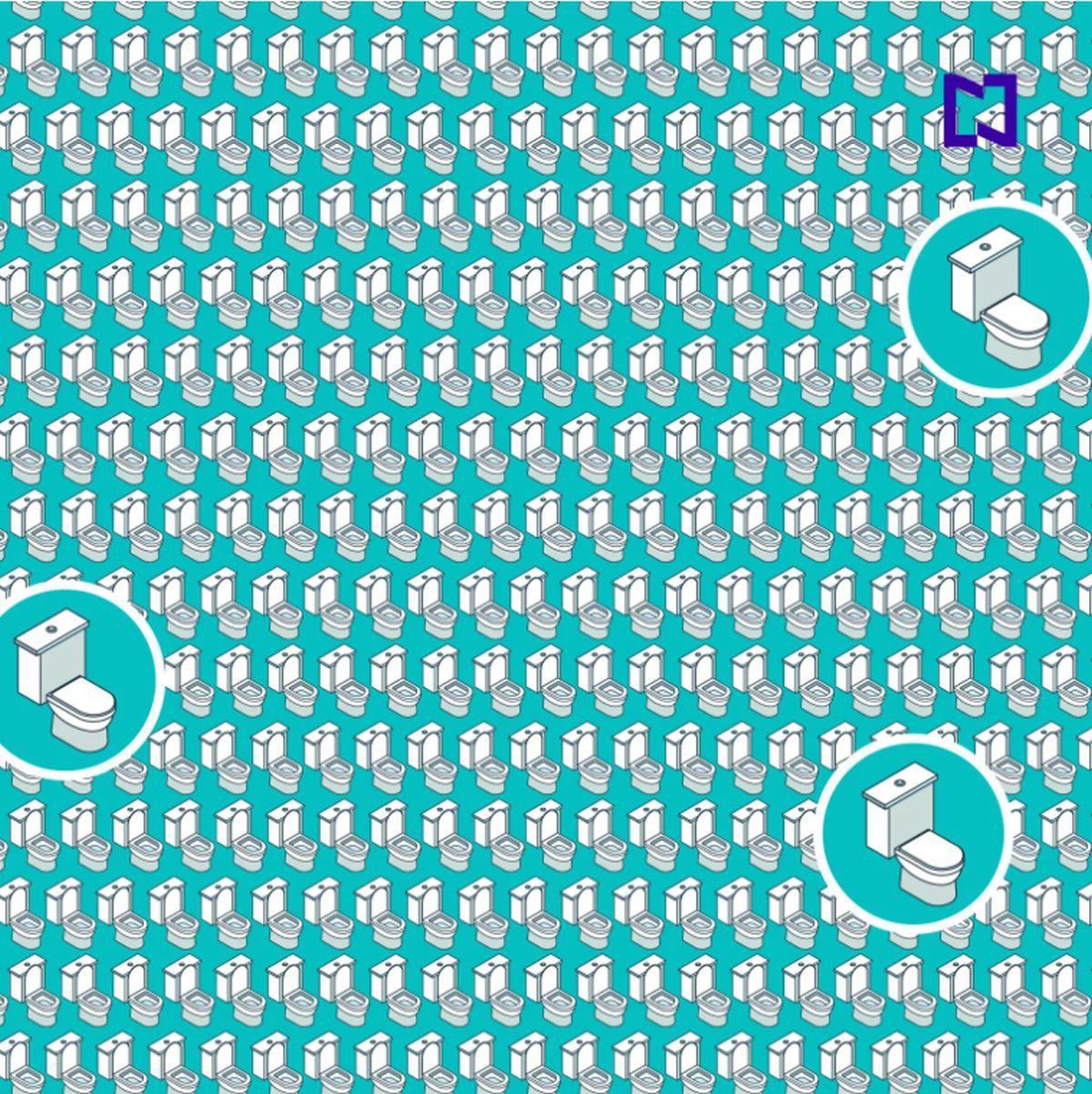 Solución: ¿puedes hallar los 3 inodoros con la tapa cerrada ocultos en la imagen? (Foto: Facebook/Captura)