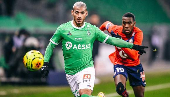 Miguel Trauco jugó ante Lille su quinto partido completo en la temporada de Saint-Étienne. (Foto: Saint-Étienne)