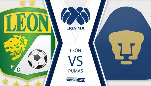 León vs. Pumas se miden por el Torneo Apertura de la Liga MX. (Diseño: Depor)