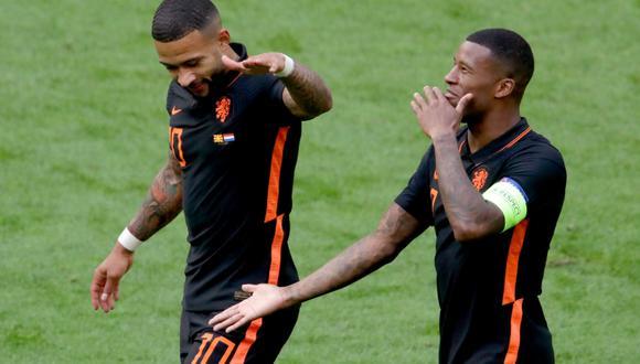 Países Bajos goleó a Macedonia por la Eurocopa. (Foto: AFP)