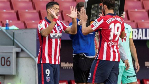 Atlético de Madrid marcha tercero en la tabla de posiciones de LaLiga con 17 puntos. (AFP)