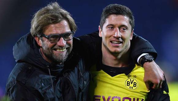 Lewandowski y Klopp llevaron al Dortmund a la final de la Champions League en 2013. (Foto: EFE)