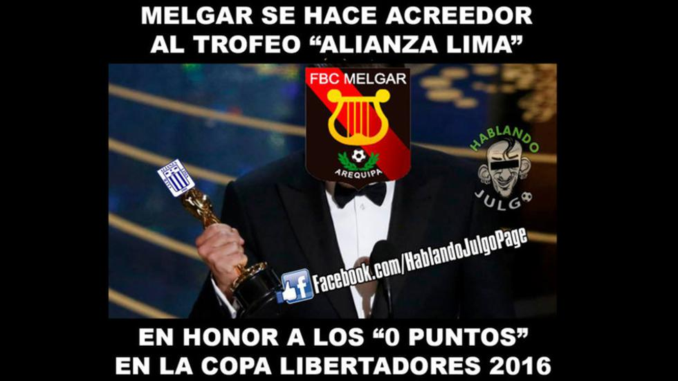 Melgar se despidió de la Copa Libertadores con cero puntos.