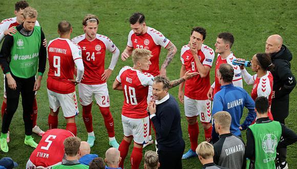Dinamarca perdió 1-0 ante Finlandia en su debut en la Eurocopa 2021. (Getty)