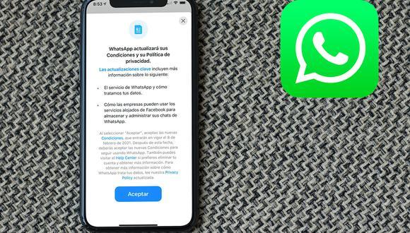 Este es el resumen de todas las nuevas condiciones que implementará WhatsApp el 15 de mayo. (Foto: Mockup)
