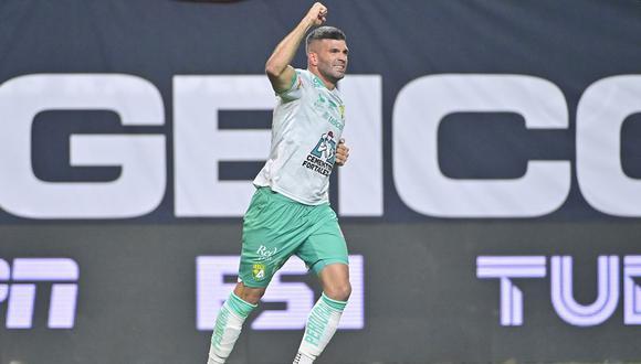 Emanuel Gigliotti convirtió el 3-1 para en León vs. Seattle por Leagues Cup. (Foto: Leagues Cup)