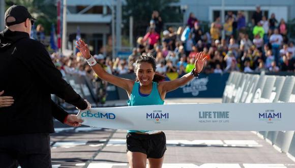 Aydee Loayza debutó en esta maratón ganando la medalla dorada. (Foto: ENH Deportes)