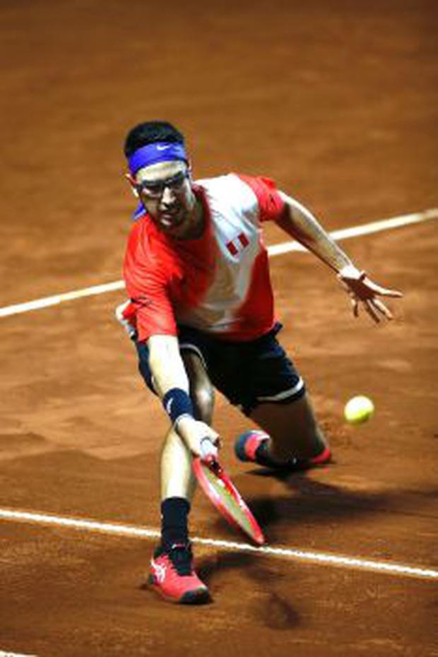 Nicolás Álvarez beat Nerman Fatic.  (Photo: Fernando Sangama / GEC)