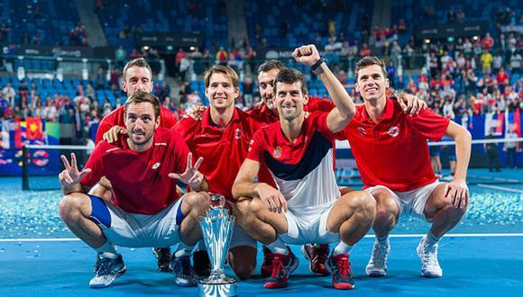 Los serbios ganaron la primera edición de la ATP Cup, celebrada en Australia. (Foto: Getty Images)