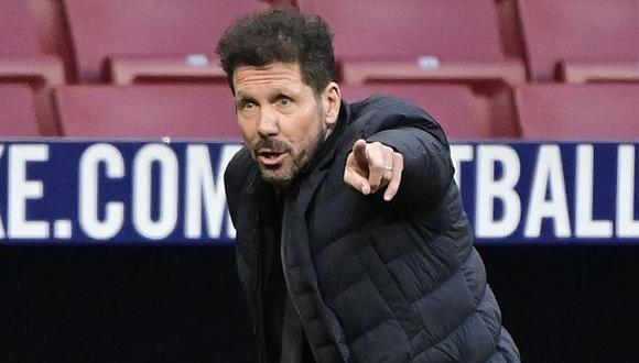 Diego Simeone mantiene al Atlético de Madrid líder de LaLiga. (Foto: AFP)