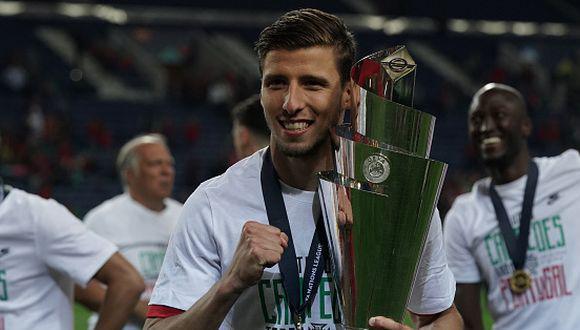 Rúben Dias ganó la Liga de Naciones con Portugal. Su precio ronde los 60 millones de euros. (Getty)