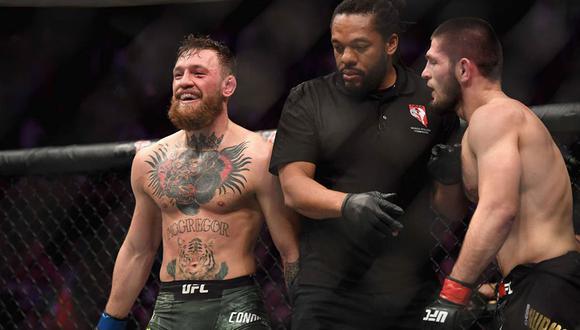 Conor McGregor respondió a las críticas de Khabib tras su derrota en el UFC 257. (Foto: AFP)