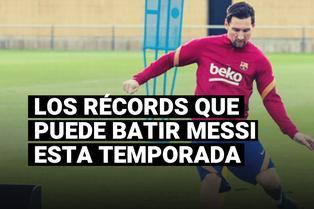 Conoce los récords que Lionel Messi puede batir en su nueva temporada con el FC Barcelona