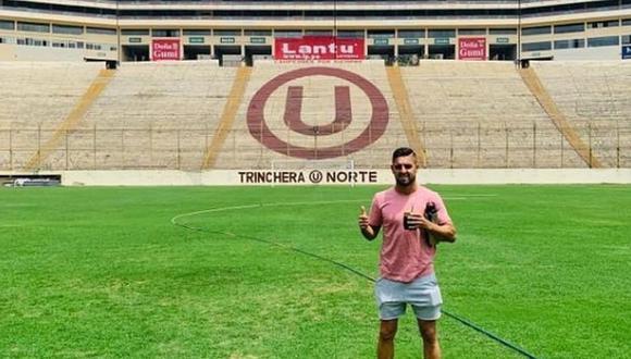 Urruti conoció el estadio de Universitario. (Instagram)