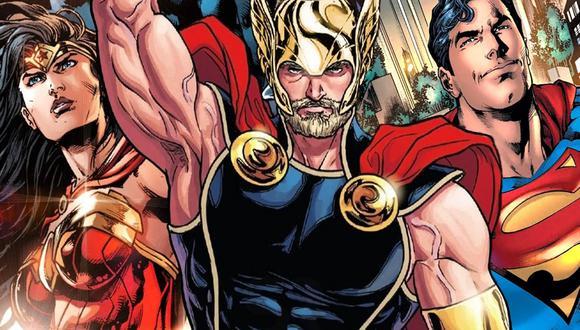 """""""Marvel"""": ¿Superman y Wonder Woman son dignos del martillo de Thor?"""
