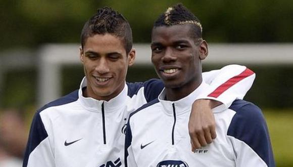 Paul Pogba y Raphael Varane han coincidido en muchas ocasiones con la Selección de Francia. (Foto: Getty)