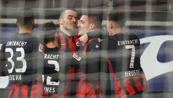 Jovic volvió al Eintracht Frankfurt y anotó dos tanto por la Bundesliga. (Foto: AFP)