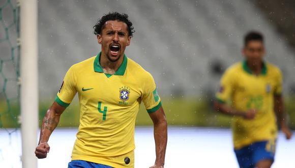 Marquinhos abrió el camino para la goleada de Brasil ante Bolivia.