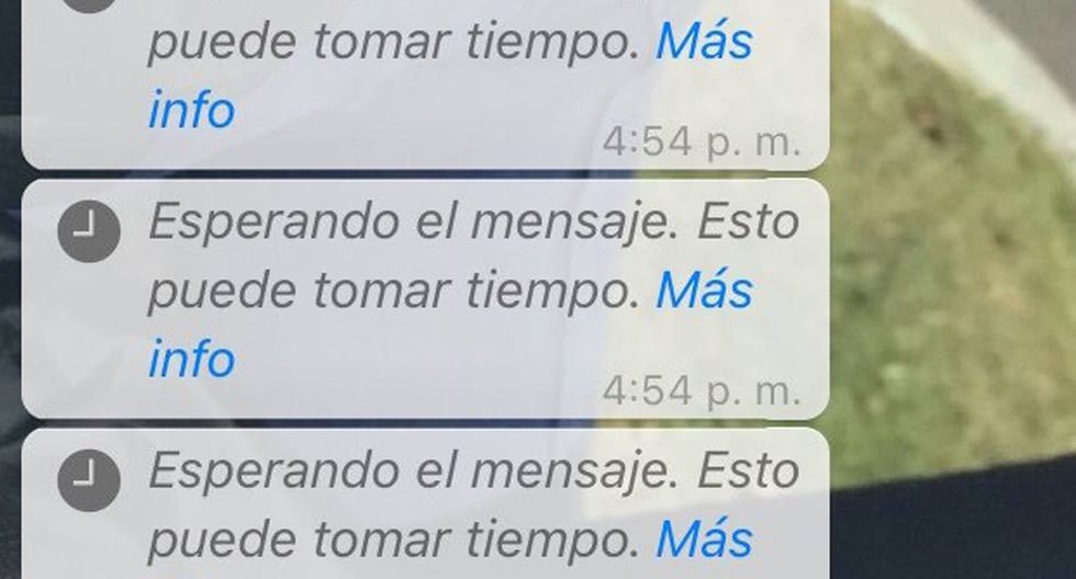 ¿Alguna vez te apareció este extraño mensaje en WhatsApp? Conoce qué cosas debes realizar para solucionarlo. (Foto: Captura)