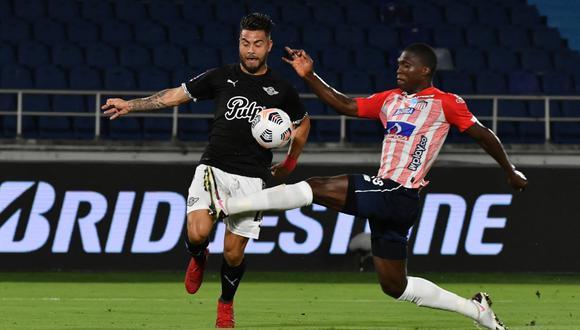Junior y Libertad protagonizaron un partidazo en la ida de octavos de final de Copa Sudamericana 2021 (FOTO: AFP)
