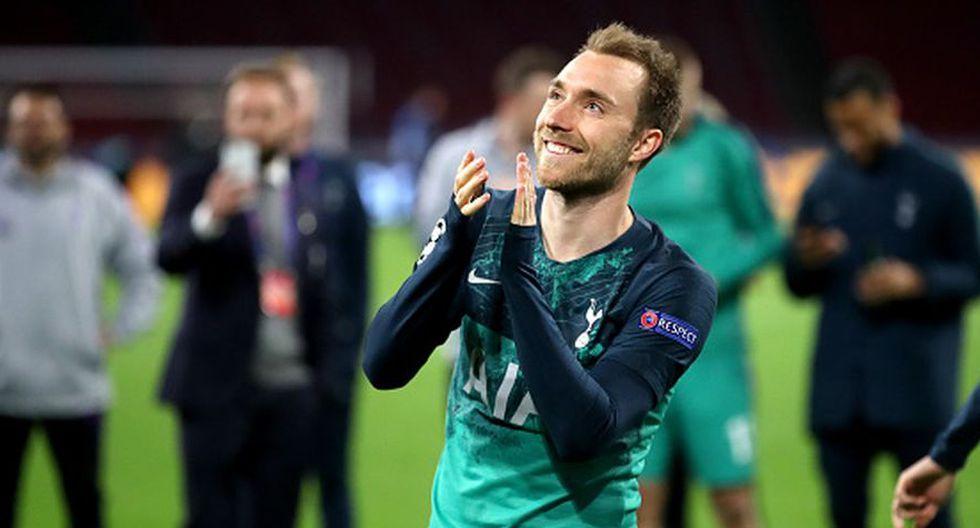 Christian Eriksen acaba contrato con el Tottenham en el 2020 y podría llegar al Madrid a coste cero. (Getty)