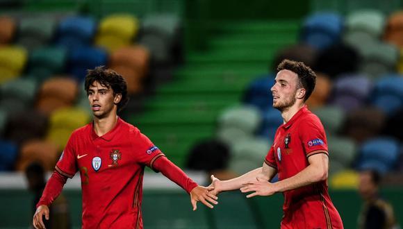 Diogo Jota anotó un doblete para el triunfo de Portugal ante Suecia.