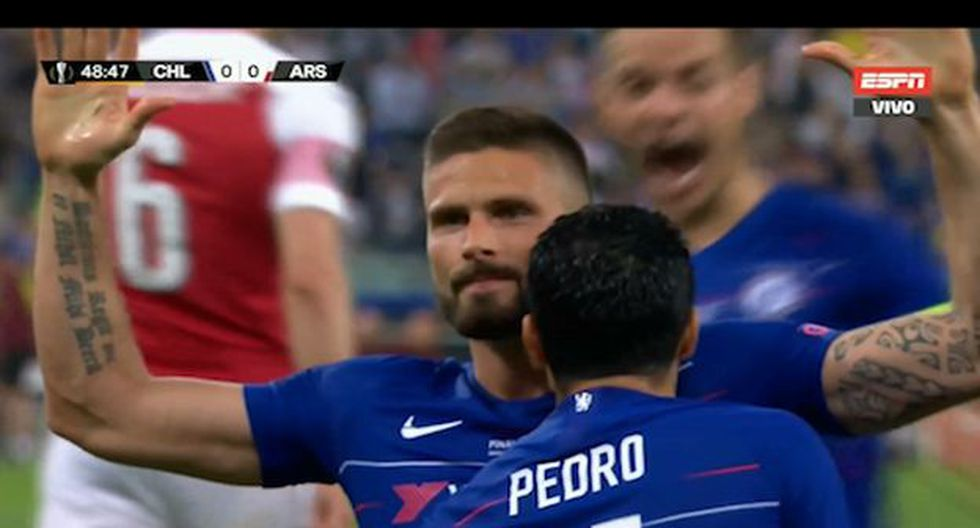 Giroud abrió el marcador ante Arsenal por Final Europa League en Bakú