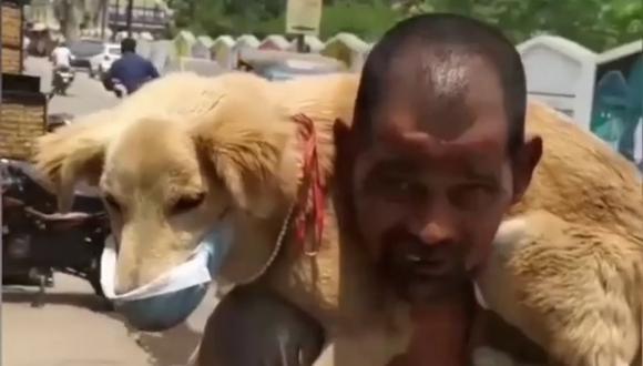 El sujeto dijo que su intención era la de proteger a su mascota del COVID-19. (Foto: @animal_lover_wagad   Instagram)