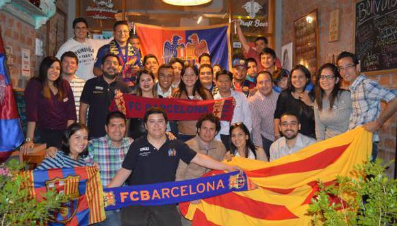 La Peña Blaugrana Lima se fundó en el 2005. (Foto: Peña Blaugrana)
