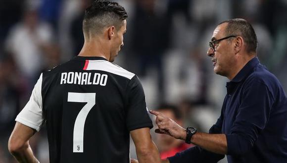 Maurizio Sarri se refirió a Cristiano Ronaldo. (Foto: AFP)