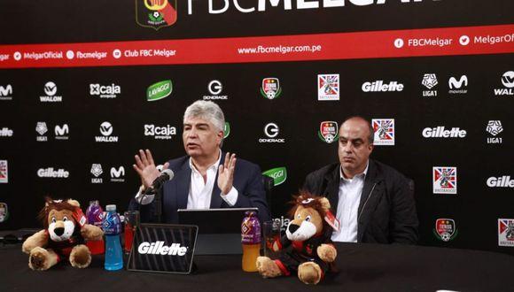 José Suárez zanabria en conferencia de prensa. (Foto: Alan Mayta)