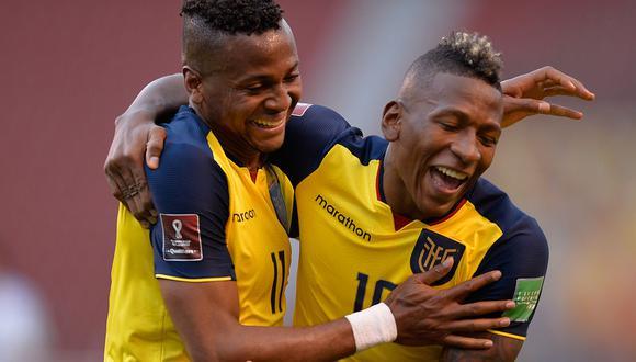Ecuador se pone adelante por 2-0 ante Uruguay en Quito. El equipo local saca ventaja en la segunda jornada de las Eliminatorias Qatar 2022. (Foto: AFP)
