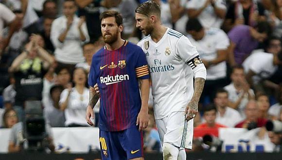 Lionel Messi y Sergio Ramos terminan contrato con el Barcelona y Real Madrid, respectivamente, en junio de 2021. (Foto: AFP)