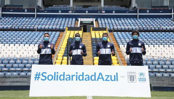 Alianza Lima es el primer club peruano que firma un acuerdo con ACNUR para apoyar la integración de las personas refugiadas   Foto: Prensa Alianza Lima
