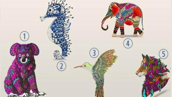 En el test que se volvió viral es posible encontrar un koala, un caballito de mar, un elefante, un colibrí y un lobo. El objetivo de los usuarios es escoger uno. (Foto: La Verdad)