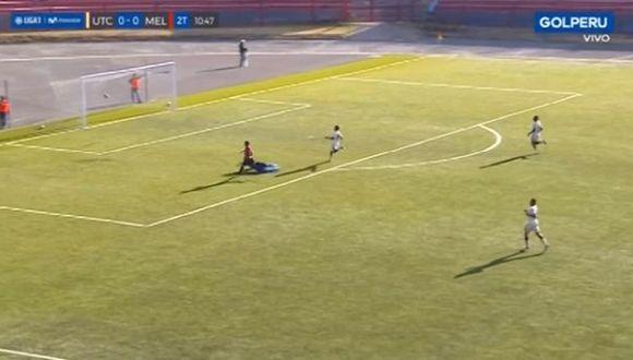 Bernardo Cuesta falló un gol de manera increíble en el Torneo Clausura. (Video: GOLPERU)