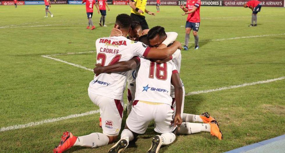 Tolima venció a Wilstermann en Cochabamba y clasificó a la Sudamericana. (Foto: Deportes Tolima)