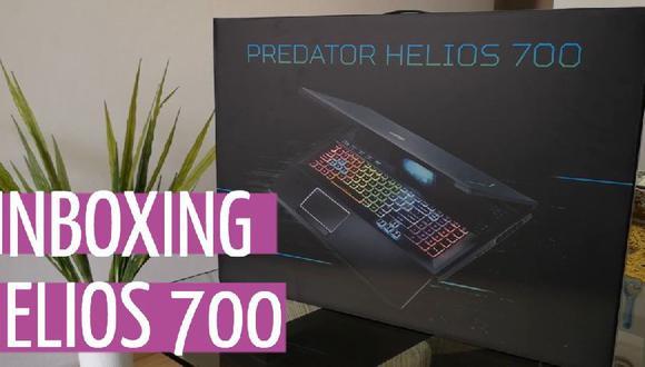¡Unboxing de la Predator Helios 700! Mira lo que trae la caja de la laptop de Acer