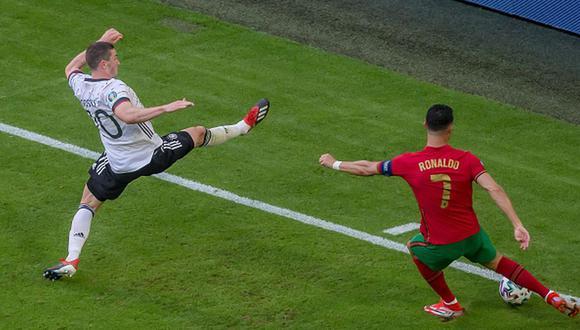 Robin Gosens marcó un gol en el triunfo de Alemania sobre Portugal en la Euro. (Getty)