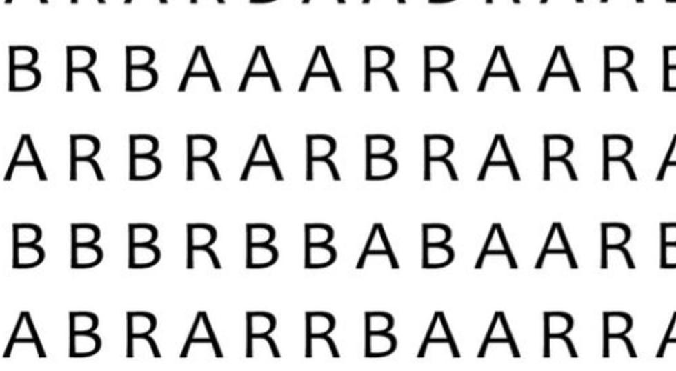 Desafío visual: ¿puedes hallar la palabra 'BAR' en la siguiente sopa de letras? (Foto: Facebook/Captura)