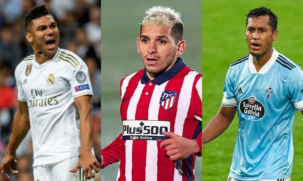 Casemiro, Tapia y Torreira son los pivotes más caros de la liga española. (Fotos: Agencias)