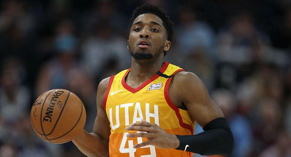 Donovan Mitchell de Utah Jazz para el Team Giannis. (Getty Images)