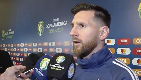 Lionel Messi se fue expulsado a los 37 minutos de juego. (DirecTV)