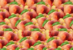 ¿Puedes hallar la manzana entre los duraznos? Solo tienes 15 segundos para dar con la solución