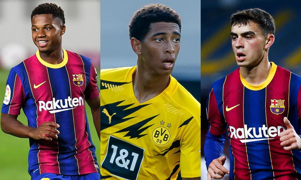 Fati, Bellingham y Pedri encabezan la lista de mejores jugadores sub 20 del mundo.