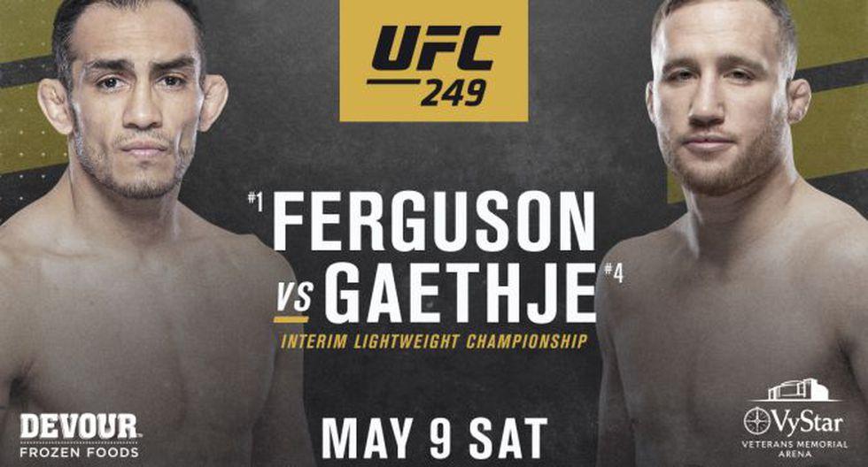 Tony Ferguson vs Justin Gaethje - Cartelera estelar. (Foto: UFC)