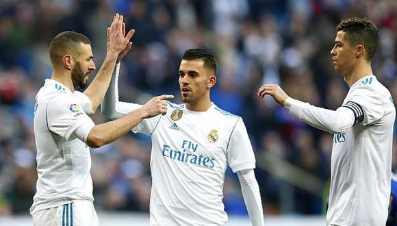 Dani Ceballos y la postal con Cristiano y Bale ante Alavés. (Foto: Getty)