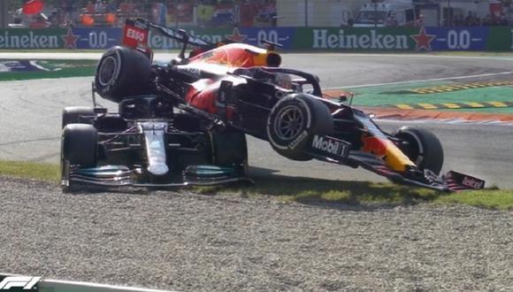 Max Verstappen culpa a Lewis Hamilton por el accidente. (Foto: Fórmula 1)