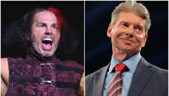 Matt Hardy y Vince McMahon. (Foto: AEW/ WWE)