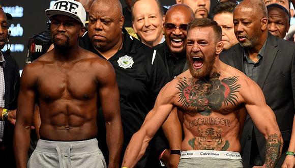 Floyd Mayweather venció a Conor McGregor en una exhibición de boxeo en 2017. (AFP)